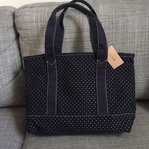 NWT J Crew Navy Blue Canvas Tote